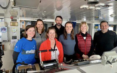 Exploring the heart of the MV Ushuaia: Kristen Howard and Nicole Wright