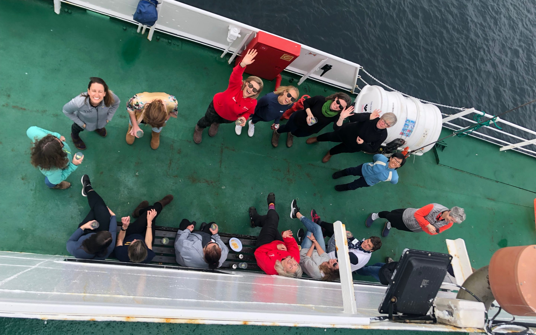 12 metre waves across Drake's Passage: Natalie Unterstell