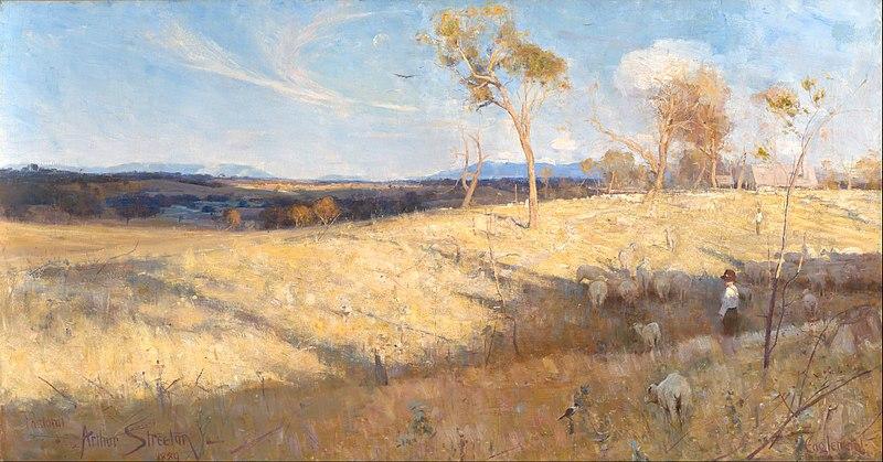 Arthur Streeton - Golden Summer Eaglemont via Google Art Project.